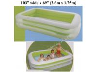 "103"" Long family paddling pool"