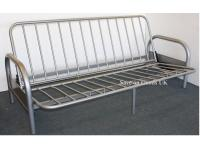 Budget Silver 3 Seater Metal Futon Sofabed Frame Only