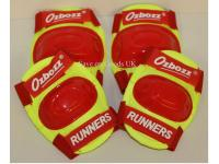 Kids 4 piece protective pads - Medium Yellow / Red