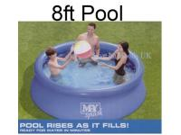 8FT Diameter quick set up pool