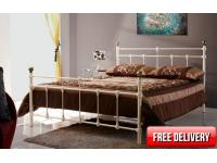 4ft6 Atlantic Cream Bed Frame