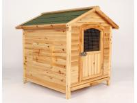 Solid Cedar wood dog kennel
