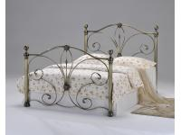 4ft6 Radiance Antique Brass Bed Frame