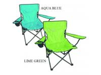 Folding canvas camping chair - Aqua Blue