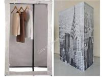 Canvas wardrobe - skyline design