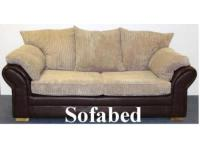 3 seater faux leather sofabed