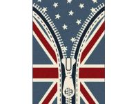 Union Jack and America flag rug design