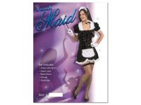 Ladies French Maid Fancy Dress - Large
