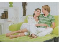 Inflatable double sofa and bed - Lime Green