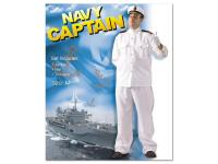 Mens Navy Captain Fancy Dress - Medium