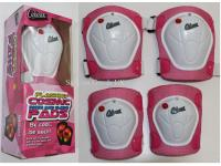 Pink set of protective pads with flashing lights function - Medium