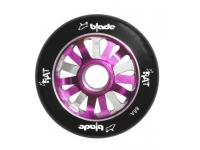 RAT Scooter Wheel, 15 Spoke, Black tyre with Purple & Silver hub
