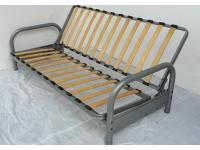 3 Seater Click Clack  Silver Metal Futon Sofabed Frame Only