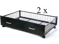 1 Pair of black Underbed Drawers