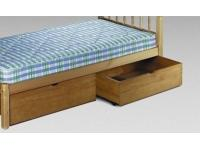 Pair of Pine Underbed Drawers - WAXED FINISH